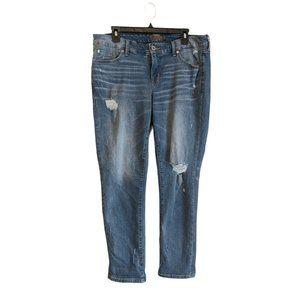 Torrid Boyfriend Straight Denim Jeans 12R Blue